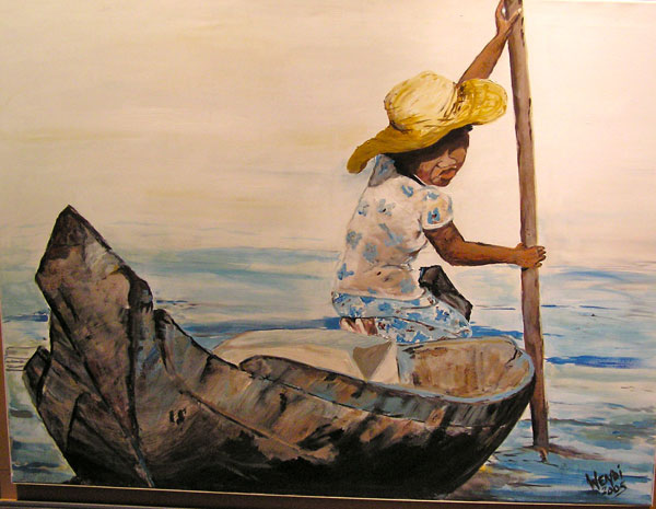 Painting: Cambodian Boat Girl