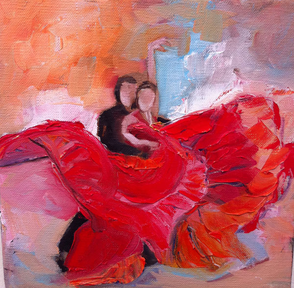 Painting: Flamenco Study