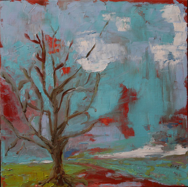 Painting: Lonely Tree