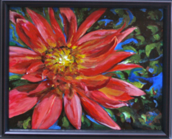 Painting: Red Beauty Framed