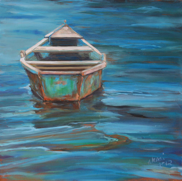Painting: Blue Lagoon Boat