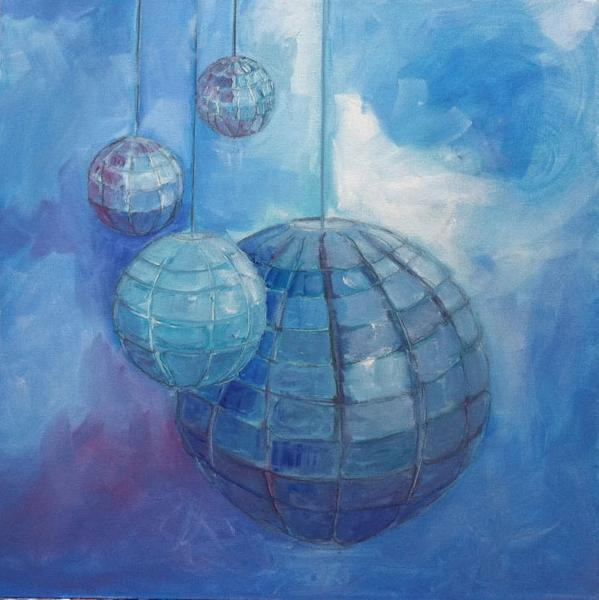 Painting: Orbs Blue