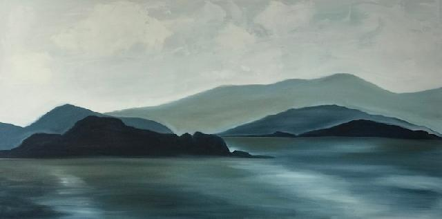 Painting: Grey Island Twilight