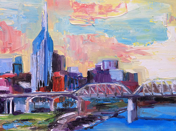 Painting: Nashville in Neon