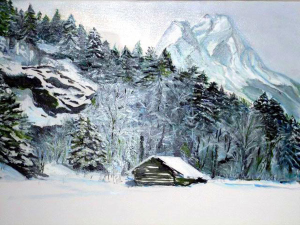 Painting: Gstaad Silent Snow