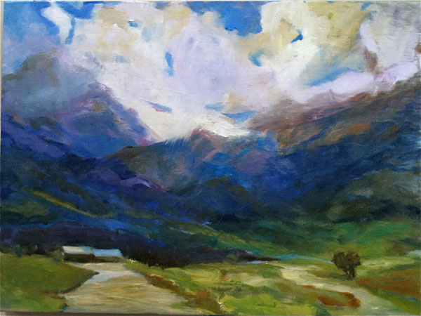 Painting: Blue Mountains Framed