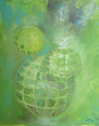 Painting: Orbs Green