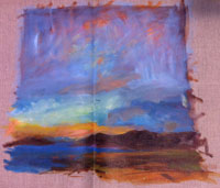 Painting: Raw Canvas Abstract