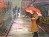 Painting: Neon Umbrella