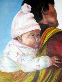 Painting: Baby on Back
