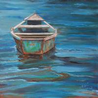 Painting: Blue Lagoon Boat