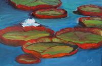 Painting: Scarlet Lily Pads
