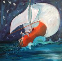 Painting: Wynken, Blynken,Nod 20x20