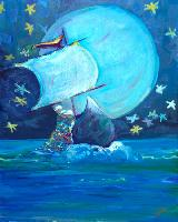 Painting: Wynken Blynken Nod LWS