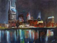 Painting: Nashville at Night