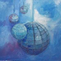Painting: Orbs Blue