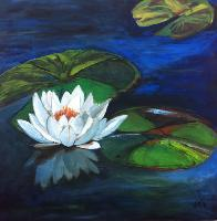 Painting: White Lily