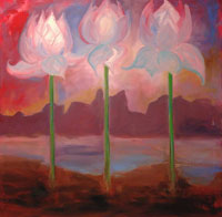 Painting: Lotus Rising Large