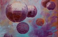 Painting: Orbs Purple