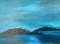Painting: Blue Island Twilight