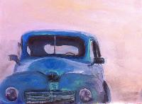 Painting: Dusky Old Car
