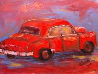 Painting: Red Car