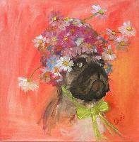 Painting: Pug Shot