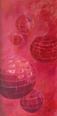 Painting: Orbs Red