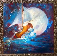Painting: Wynken, Blynken Nod 2