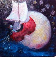 Painting: Wynken, Blynken Nod 4