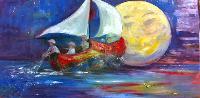 Painting: Wynken, Blynken Nod 1