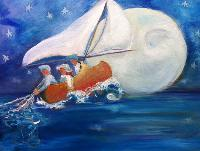 Painting: Wynken, Blynken Nod 5
