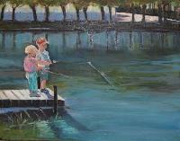 Painting: Anna Clara and Soren