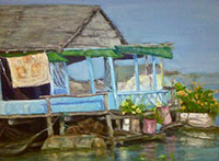 Painting: Tonle Sap Home