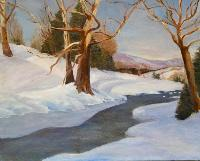 Painting: Snowy Scene