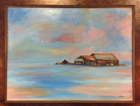 Painting: Tonle Sap Lake Sunset